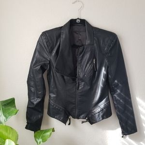 NWOT BlankNYC faux leather moto jacket S / small